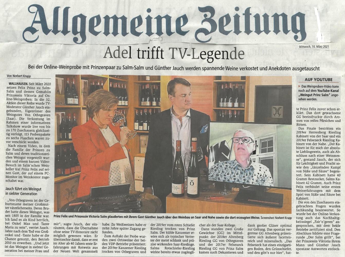 AZ – Adel trifft TV-Legende Günther Jauch