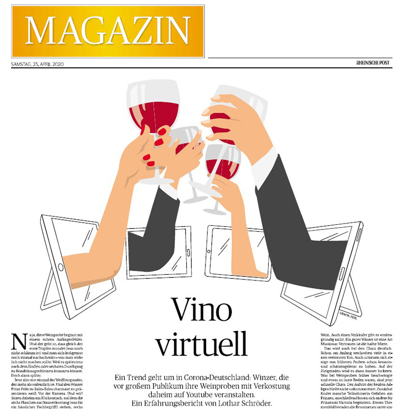 """Rheinische Post Magazin – """"Vino virtuell"""""""
